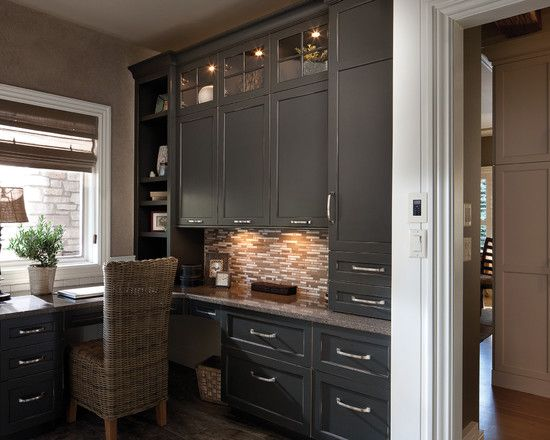 Comhome Office Cabinet Design Ideas : Home Office With Elegant Modular Office Furniture Like Gray Cabinets ...