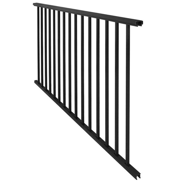 Freedom New Castle 70.75-in x 33-in Black Aluminum Porch ...