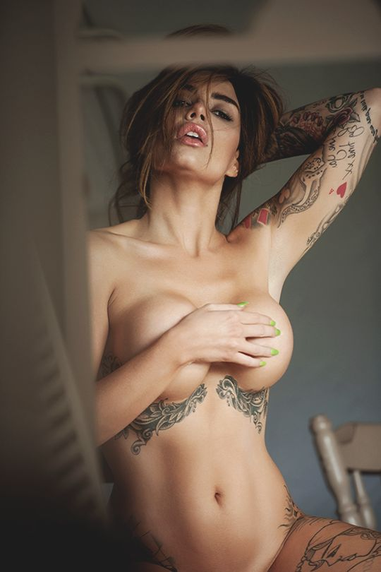 Huge boobs and tattooed girls porn sex — pic 11