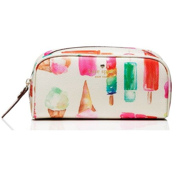 Kate Spade Cedar Street Popsicles Berrie ($68) ❤ liked on Polyvore featuring beauty products, beauty accessories, bags & cases, cosmetic purse, cosmetic bag, make up bag, toiletry bag and kate spade makeup bag