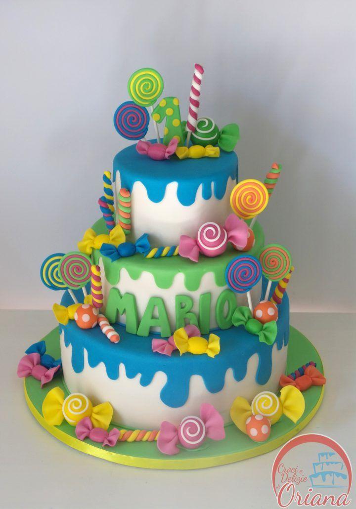 Torta Candy | Candy cake  http://blog.giallozafferano.it/crociedeliziedioriana/2016/10/torta-candy.html