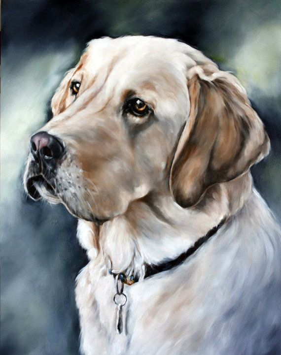 Custom Pet Portrait Dog Portrait Animal Art Custom by cmqstudio