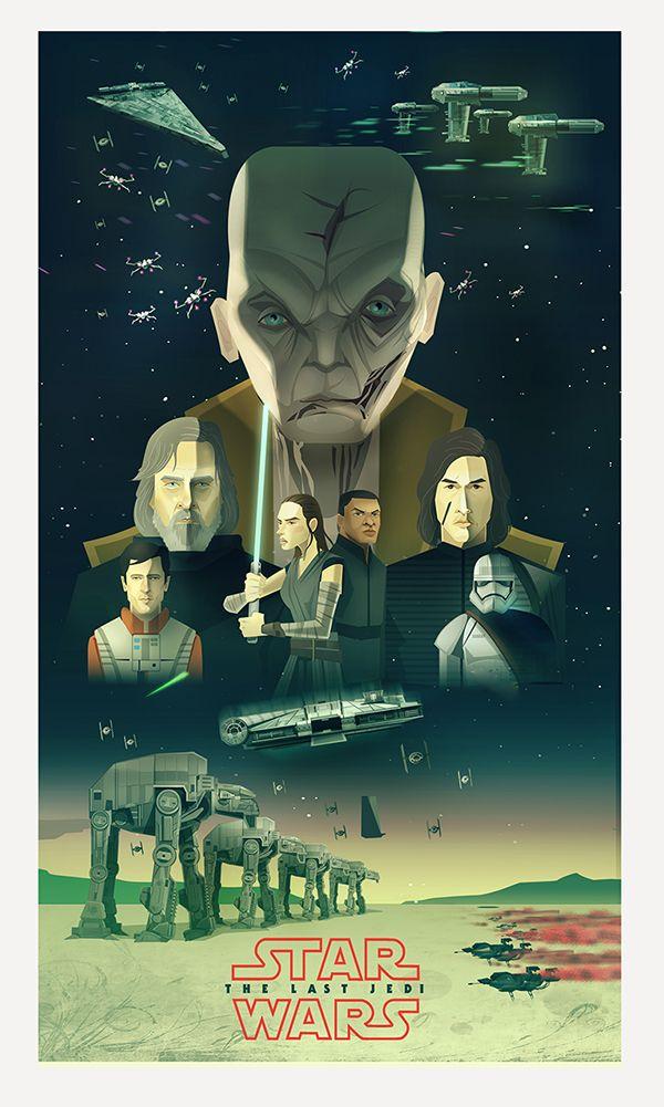 Star Wars The Last Jedi Thelastjedi Starwarsfanart Crait Snoke Star Wars Poster Star Wars Theme Star Wars Art