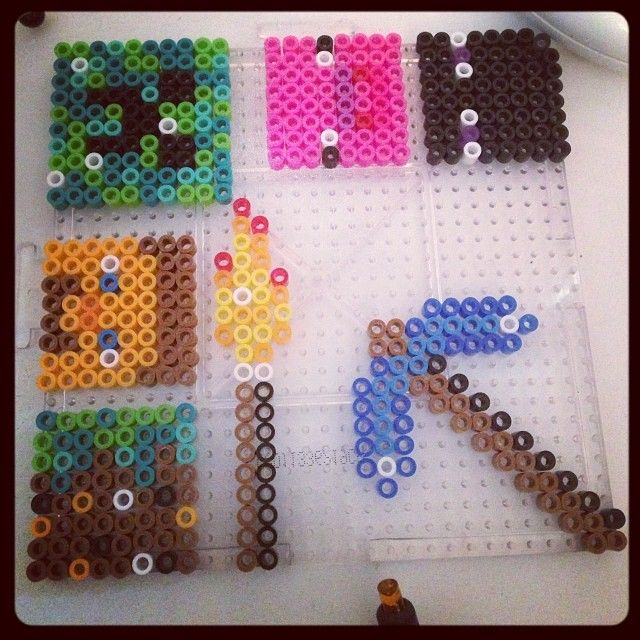 Minecraft party favors perler beads by chickameow