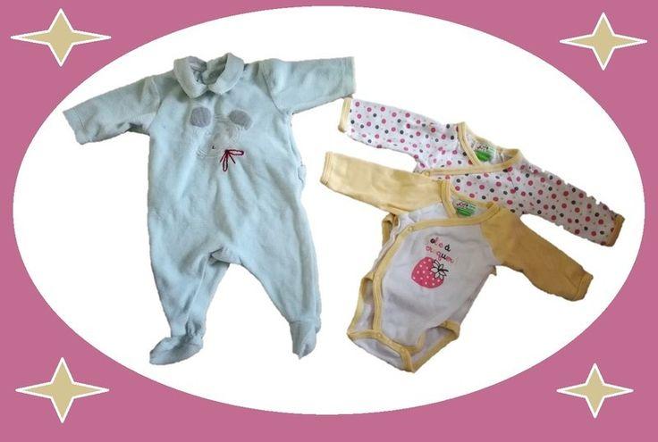 Lot ensemble bébé fille 1 mois naissance Catimin val neuf40€ body bodies pyjama dors bien