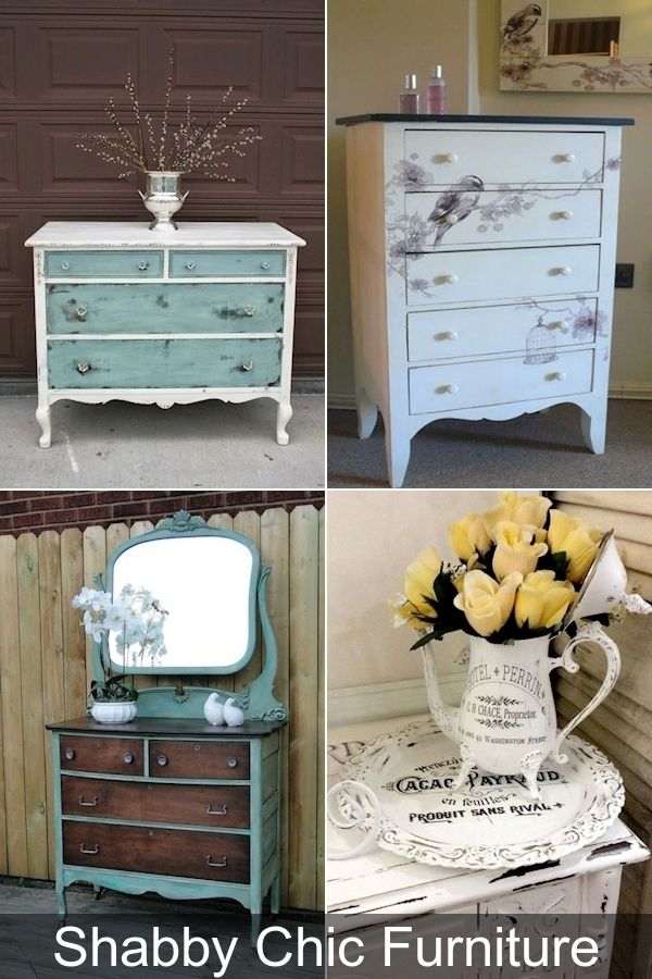 Vintage Shabby Chic Dining Chairs, Country Chic Furniture