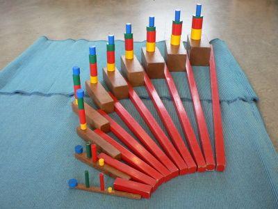 diverse combinaties met zintuiglijk materiaal - Montessorinet