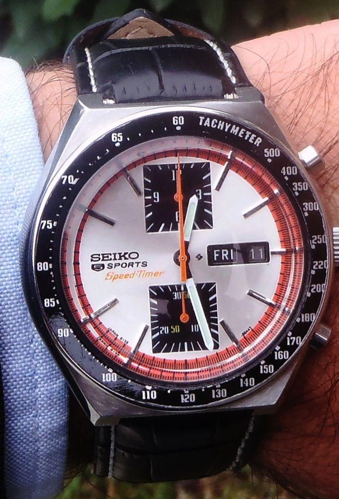 Seiko Chrono Sports Speed Timer, 6138-0030. Column wheel,1976