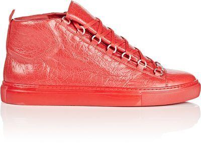 BALENCIAGA Men's Arena Leather Sneakers. #balenciaga #shoes #sneakers