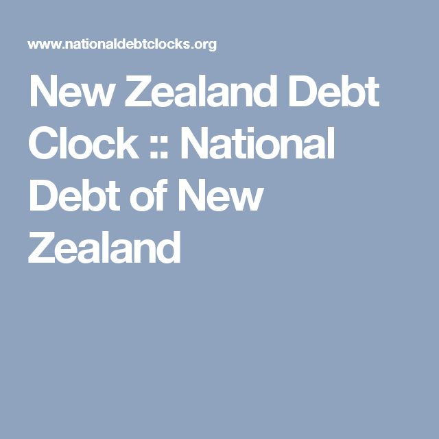 New Zealand Debt Clock :: National Debt of New Zealand