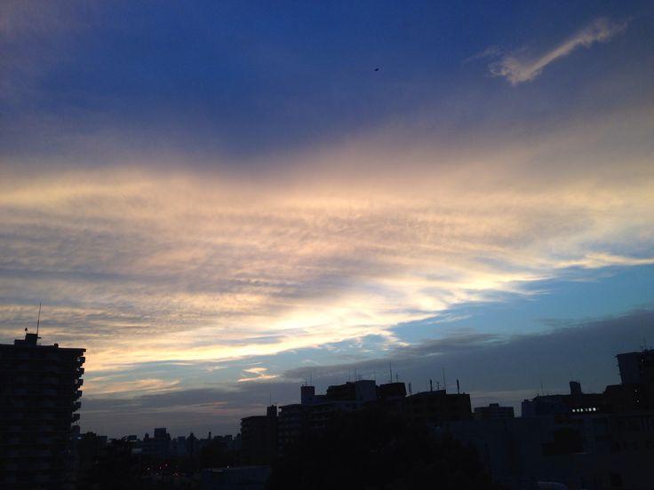 落日後の美人空