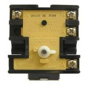 UNIVERSAL ELECTRIC HOT WATER HEATER THERMOSTAT Replacement Temperature Controller for Electric Hot Water Tanks: 50-80C  TEMPERATURE ADJUSTABLE Suit to Dux, Rheem and others