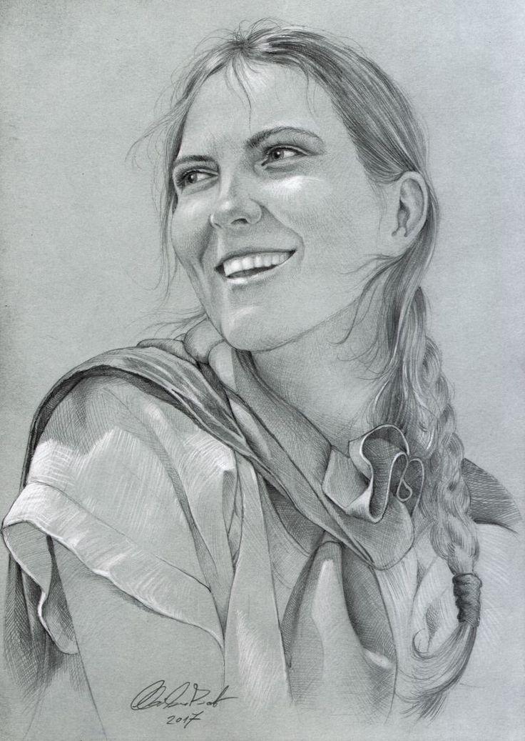 bride portrait - pencil drawing