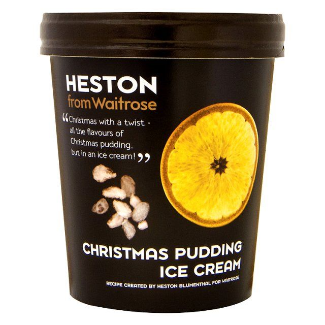 Heston from Waitrose Christmas Pudding Ice Cream - I'm not a lover of Christmas pudding, but this sounds GOOD!
