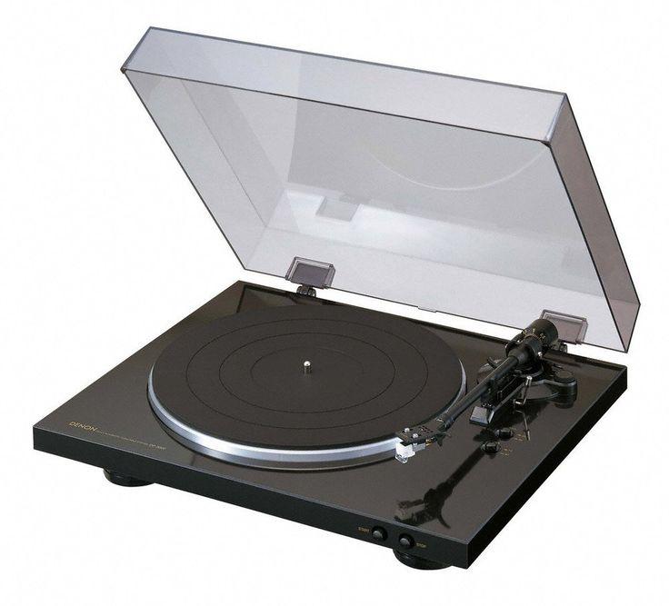 Denon DP 300 F Vollautomatischer  Plattenspieler ( Riemenantrieb, integrierter Vorverstärker, Vollautomatik ) schwarz
