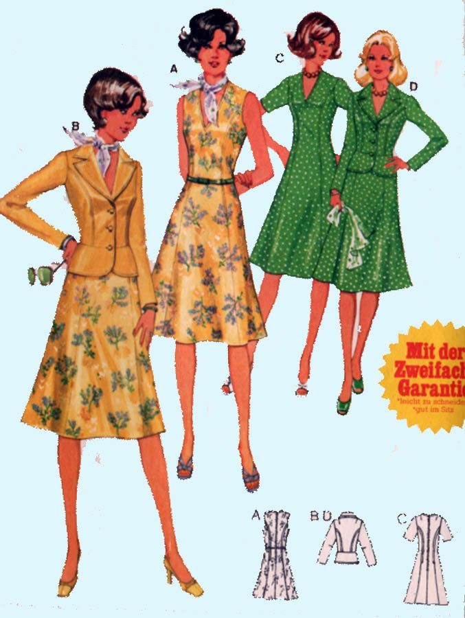 Burda 3 0201 Sewing Pattern Low V Neck Dress with Fitted Short Jacket Womens Sewing Pattern Size 14-16 UNCUT by sandritocat on Etsy