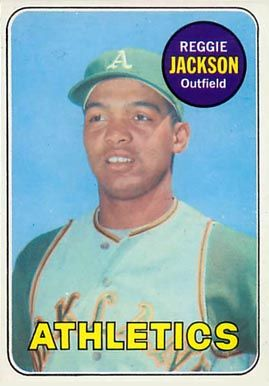 baseball cards    reggie jackson | ... set name 1969 topps card size 2 1 2 x 3 1 2 number of cards in set 694