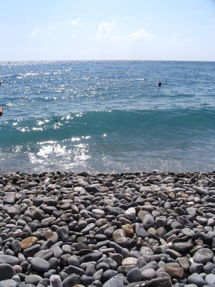Nice, France -  rock beaches