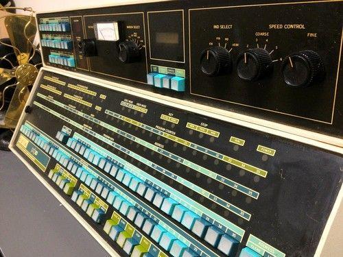 DEC PDP-10 KI-10 Computer Console Panel.