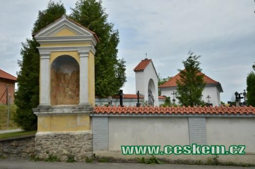 Kaplička se sv. Veronikou v Římově