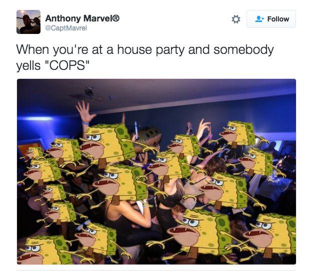 Meme Cave Spongebob Man