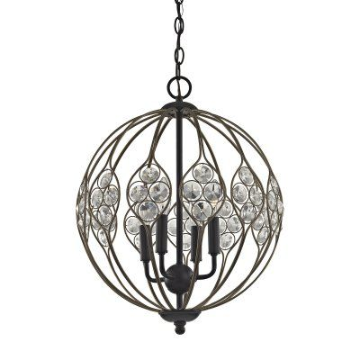 ELK Lighting Crystal Web 81107/4 4 Light Chandelier - 81107/4