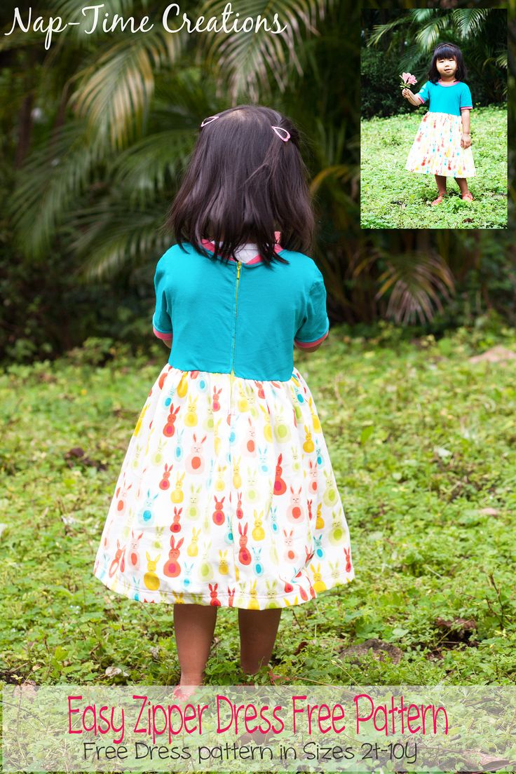 232 Best Sewing Projects Images On Pinterest Ideas Mom N Bab Sleeveless Tee Green Summer Size 3t Easy Zipper Dress Free Pattern And Tutorial From Nap Time Creations 2t 10y