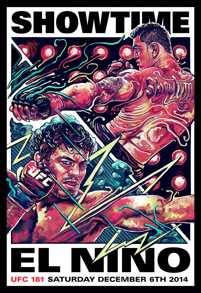 artwork of Anthony Showtime Pettis vs Gilbert Melendez : if you love #MMA, you'll love the #UFC & #MixedMartialArts inspired fashion at CageCult: http://cagecult.com/mma