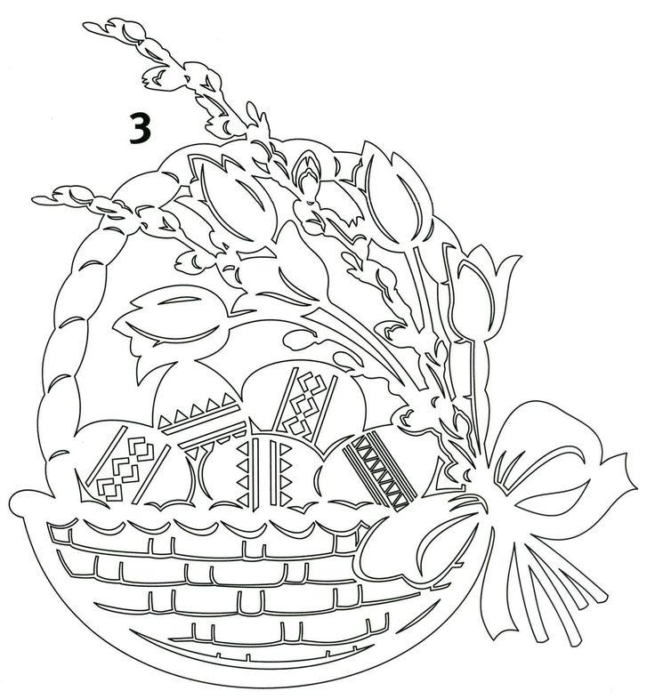 Пасхальная корзинка разукраска