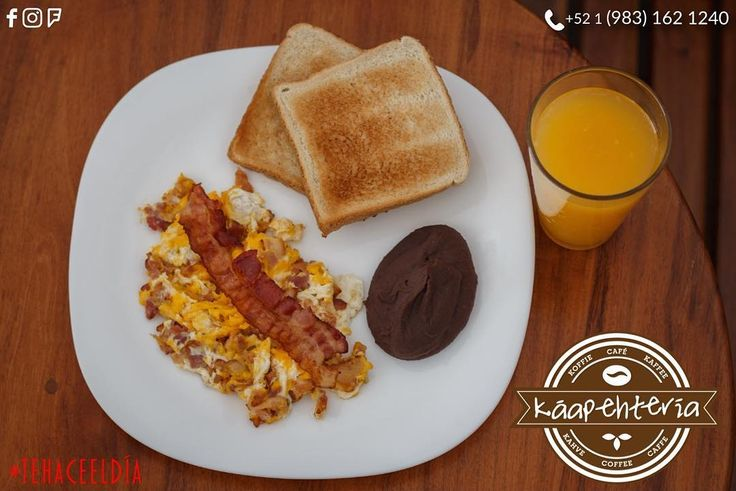 Aún no sabes que desayunar? Tu #Káapehtería está para consentirte como te lo mereces!  Así que ven y disfruta de nuestros desayunos especialmente preparados para ti.  Y lo mejor es que te lo llevamos hasta la puerta de tu hogar!  Pedidos y servicio a domicilio al: (983) 162 1240.  #Promociones #KáapehCOMBO #Desayunos #Káapehtear #Káapehtería #TeHaceElDía #ConsumeLocal #Cafetería #Café #Alimentos #Postres #Pasteles #Panes #Cancún #Chetumal #México