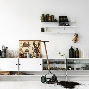 String String floor panel 85 x 30 cm, 1-pack, white | String System | Furniture | Finnish Design Shop