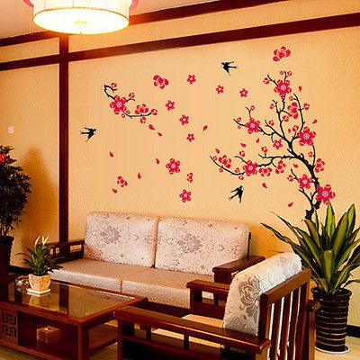 Blossom Flower Removable Wall Stickers Vinyl Decal Room Home Mural Decor #Affiliate
