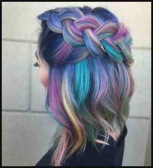 Haare Malerei Beruhrung Der Meerjungfrau Farbe Haarfarbe Einfache Frisuren Hair Styles Mermaid Hair Color Hair Makeover