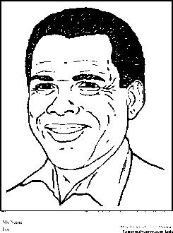 sidney poitier coloring pages black history month - Black History Month Coloring Pages
