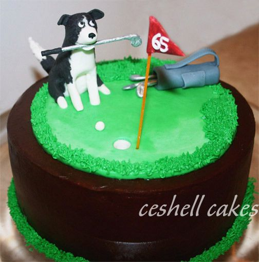 Golf-themed Birthday Cake For A Man Whose Other Major