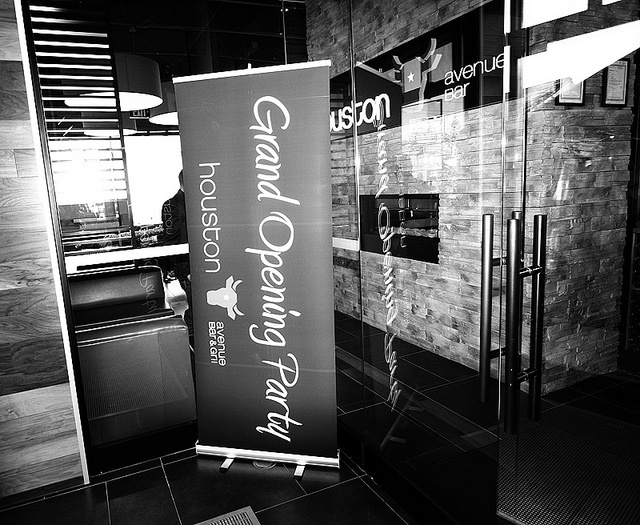 Welcome to the Grand Opening! by Houston Avenue Bar & Grill, via Flickr