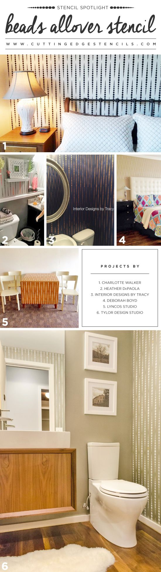 Best 25 wall stencil patterns ideas on pinterest wall cutting edge stencils shares diy stenciled room ideas using the beads allover stencil wall stenciling amipublicfo Gallery
