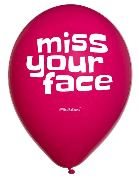 Miss Your Face Balloon by WinkBalloons.com Miss You | I Love You | Helium Balloons Delivered Sydney