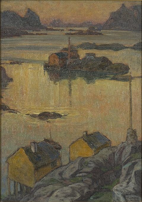 August Night, Nordlandet by Anna Boberg.  Nationalmuseum Sweden, CC BY-SA