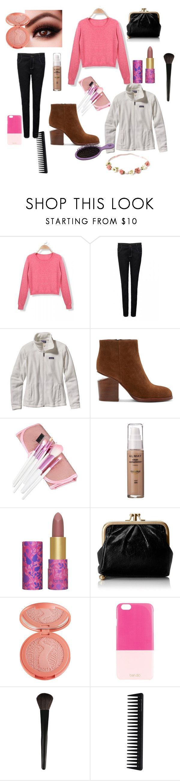 """Friday night at the movies"" by julietlane ❤ liked on Polyvore featuring beauty, Patagonia, Alexander Wang, Zodaca, tarte, HOBO, ban.do, INIKA and GHD"