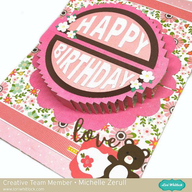 A2 Round Cake Pop Up Birthday Card Card Tutorial Cards Cake Card