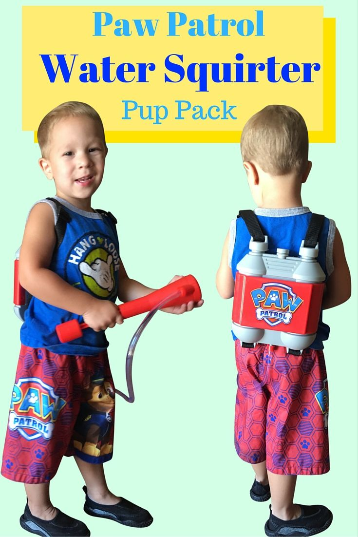 Paw Patrol WATER SQUIRTER Marshall Pup Pack - Real working fire hose with water tank!