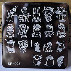 nuovo modello manicure stampaggio piatti personaggi dei cartoni animati progetta di stampa dell'immagine di trasferimento del disco