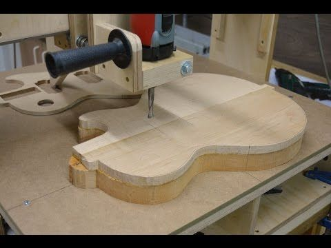 Electric Guitar body on the 3D Router (part2) - YouTube