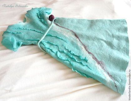 Одежда для девочек, ручной работы. Ярмарка Мастеров - ручная работа. Купить Платье валяное для девочки  Мятная Карамелька. Handmade. Мятный