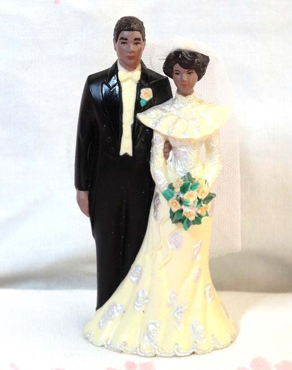 Vintage Wedding Cake Topper Couple African By CurioCabinet On Etsy 1195 This Is A Vintage