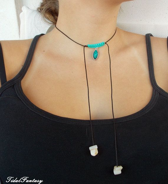 #Braidednecklace  #blackcordnecklace  #simple by TidalFantasy
