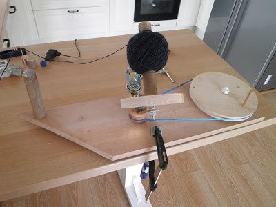 DIY Yarn ball winder from scraps ~ Knitwear and Crafts in my life
