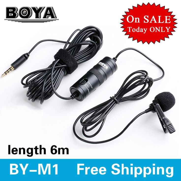 BOYA BY-M1 Omnidirectional Camera Lavalier Condenser Broadcast Microphone Professional for Canon DSLR Camcorder iPhone 7 6 6s $49.99   #pretty #streetstyle #shopping #styles #stylish #beauty #instastyle #ootd #fashionista #swag #glam #instalike #beautiful #dress #cool