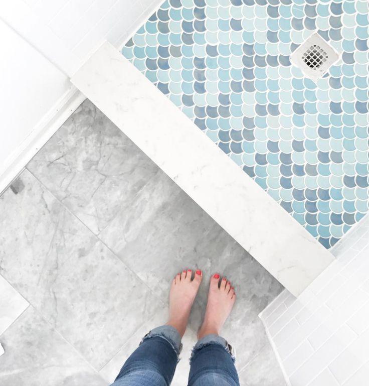 moroccan fish scale tile shower floor tile